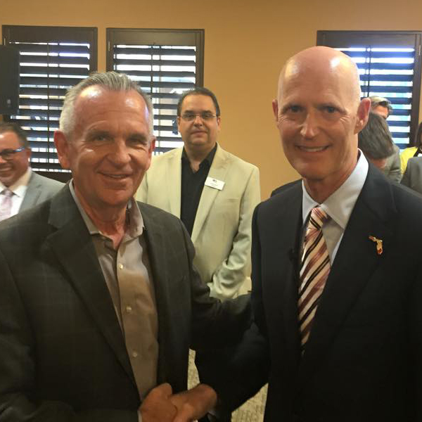 Jack Chevrier and Governor Rick Scott