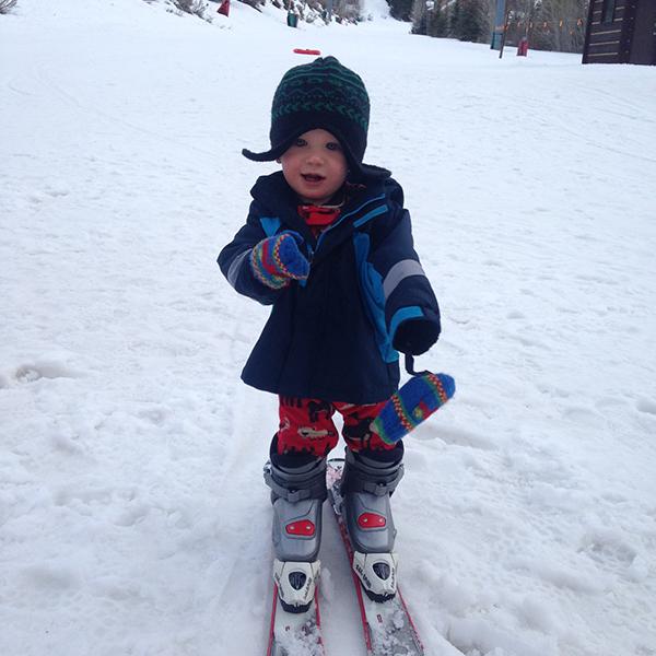 Baby Skiing