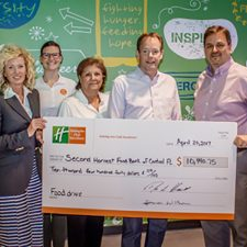 Holiday Inn Club Vacations Brand Collects 1,730 Pounds of Food and Raises More Than $10,000 for Second Harvest Food Bank
