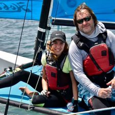 Natalia Valdezino and Armando Noriega Win the Sunset Hobie Cat 16 Cup