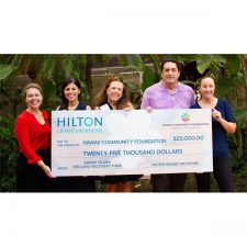 Hilton Grand Vacations Donates $25,000 to Volcano Recovery Fund